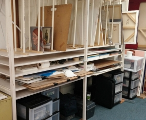 Storage area for studio members
